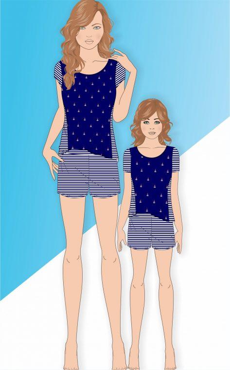 8217I - Blusa c/ short Infantil