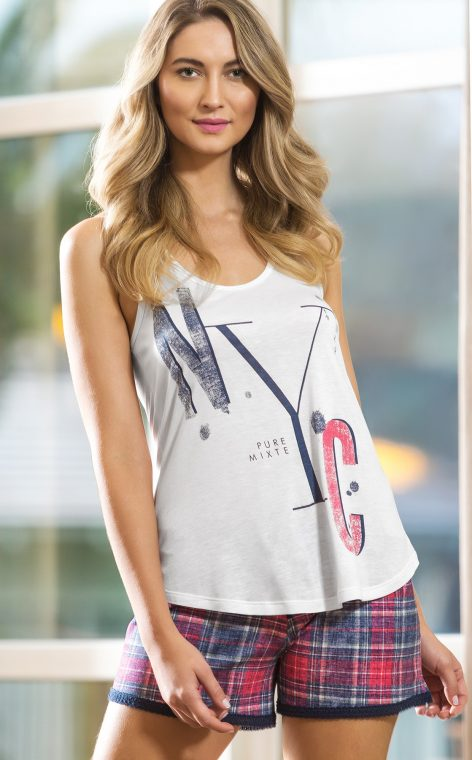 8601 - Blusa regata c/ short