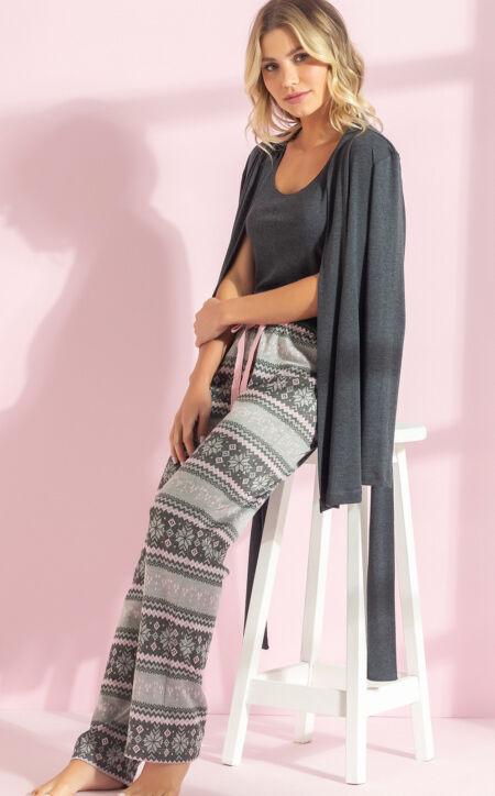 Pijama Conjunto Três Peças