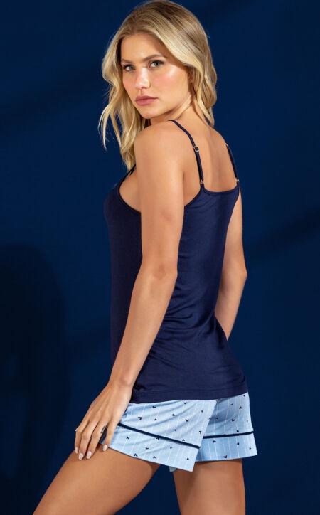 Pijama Blusa de Alça com Short