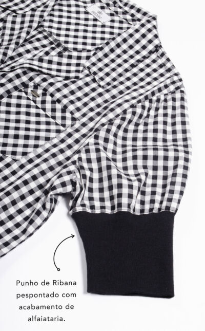 Pijama Cardigan Manga Curta com Punho e Short