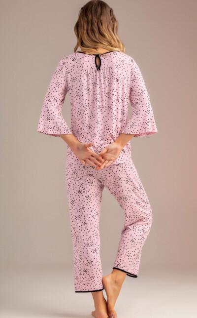 Pijama Blusa Manga ¾ com Capri