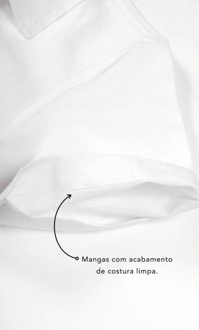 Pijama Cardigan Manga Curta com Calça