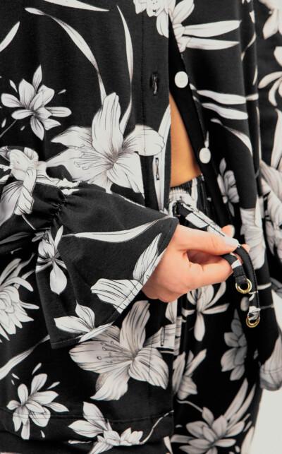 Cardigan Manga Longa com Calça Florencia