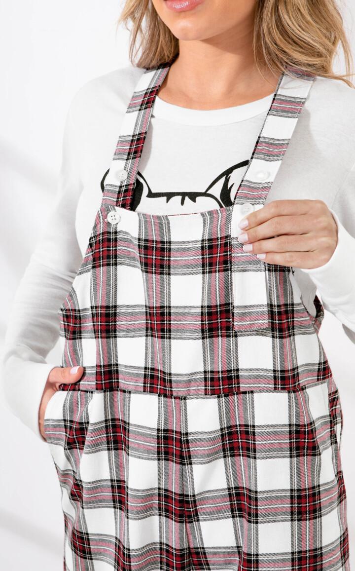 Pijama Blusa Manga Longa com Jardineira