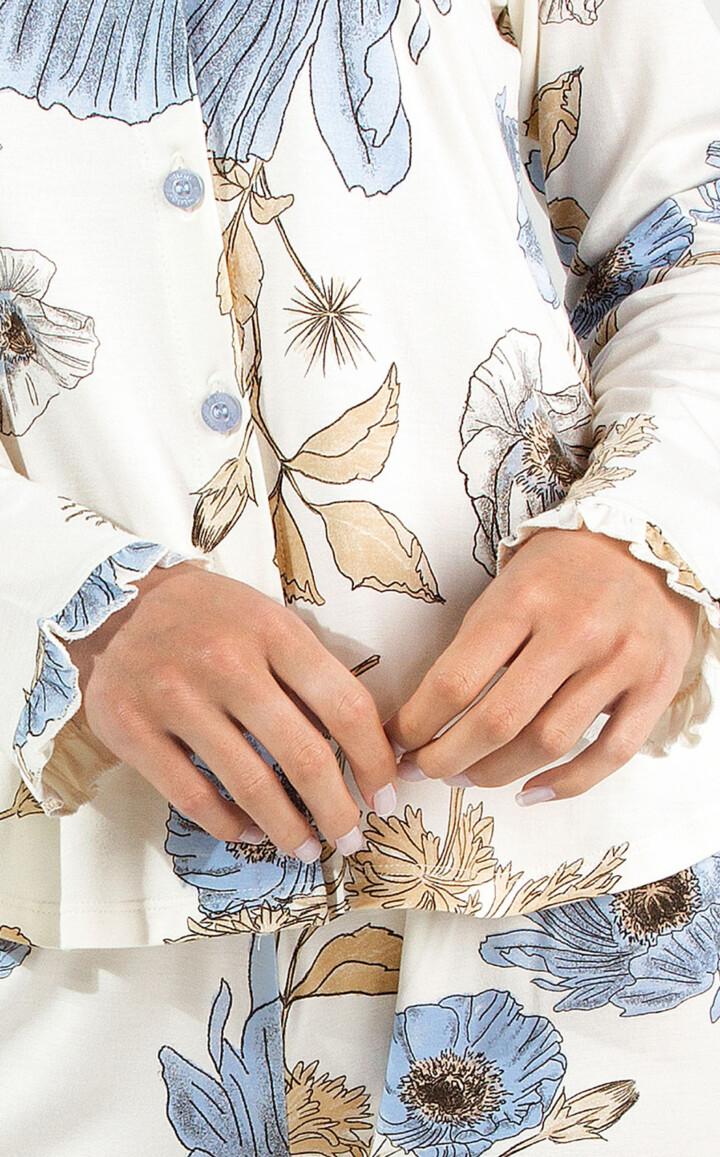 Cardigan Manga Longa com Calça Francesca