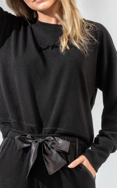 Blusa Manga Longa com Calça Black Eugenia