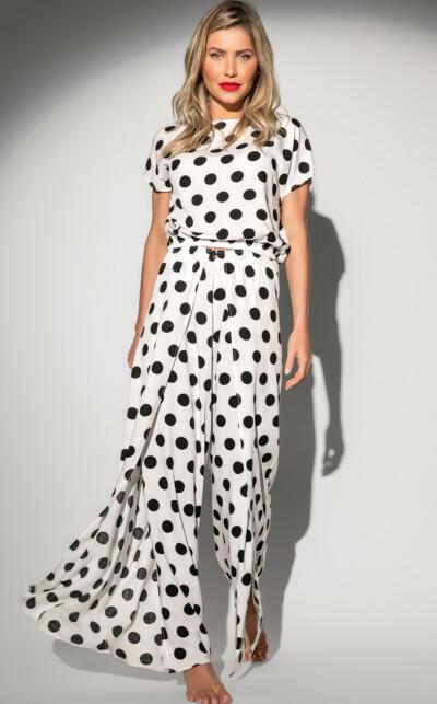 Premium – Pijama Blusa Manga Curta com Calça
