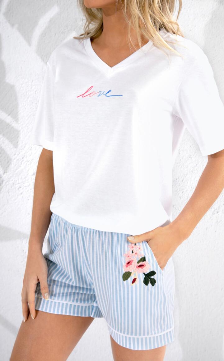 Pijama Blusa Manga Curta com Short